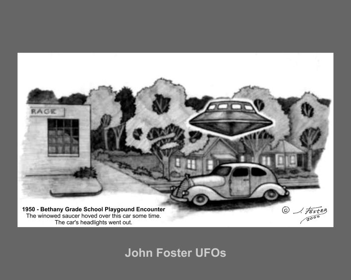 New John Foster UFO drawings now for sale as prints on canvas | John ...