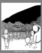 Beth Grd Sch plygd, saucer hovering 15 ft above crowd 16 x 20
